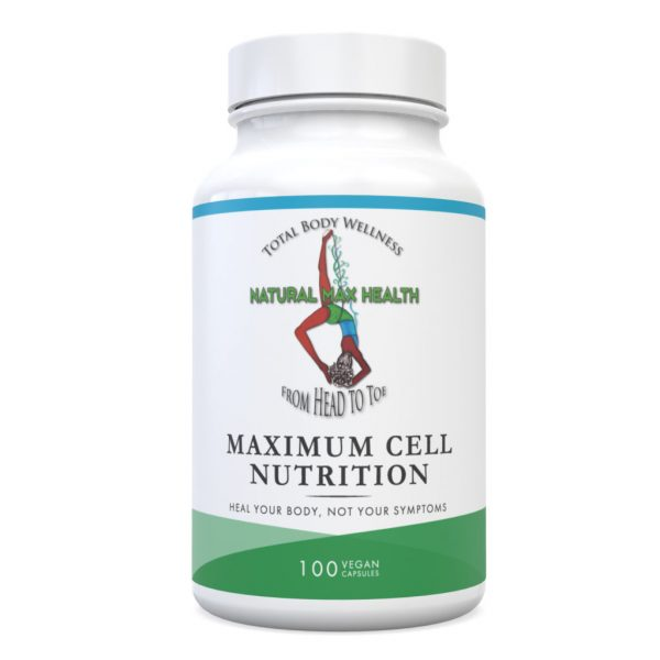 Maximum Cell Nutrition—front of bottle label.