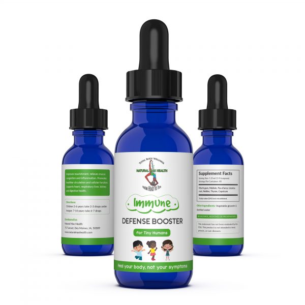 Immune Defense Booster for Tiny Humans formulated by Natural Max Health.