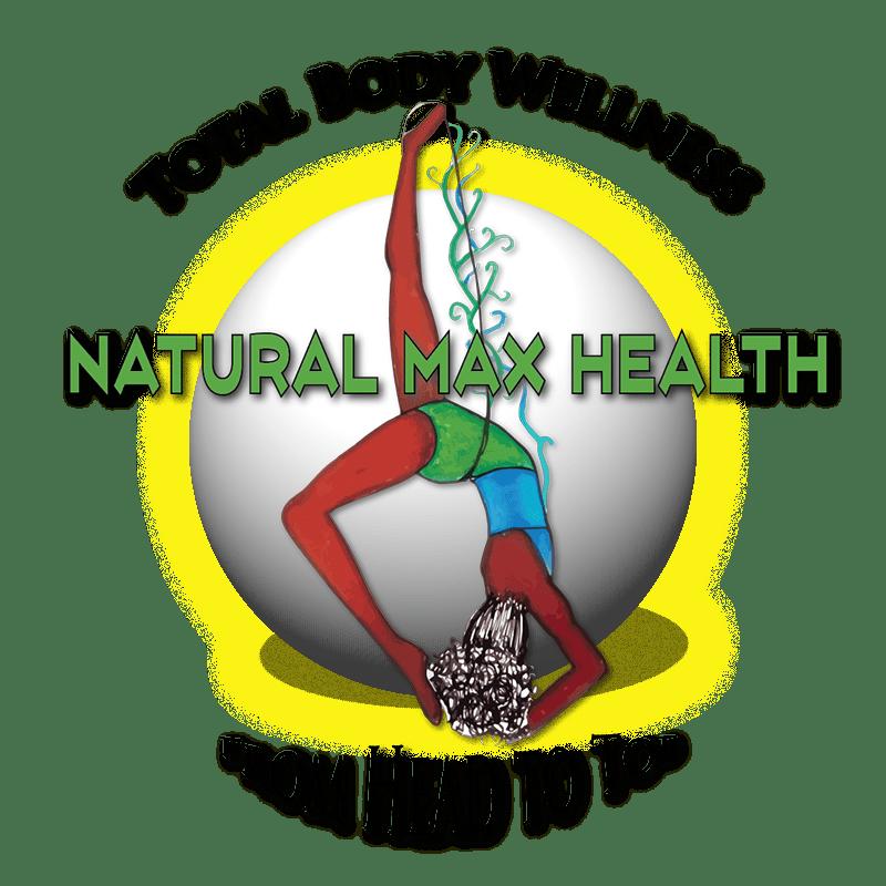 Natural Max Health globe logo.