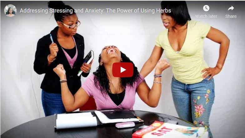 Addressing Anxiety and Stress Holistic Approach to Help Calm Your Mind Part I video cover by Natural Max Health Sakinah Bellamy.