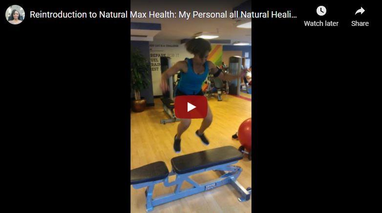 Reintroduction to Natural Max Health All Natural Healing Testimonial video cover by Natural Max Health Sakinah Bellamy.